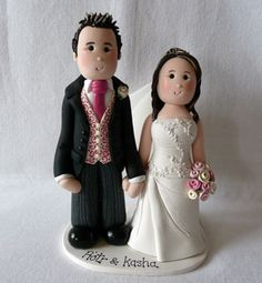 personalised clay cake topper