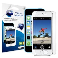 Tech Armor iPhone 5S / iPhone 5C / iPhone 5 Premium High Definition (HD) Clear Screen Protector [3-Pack] - Retail Packaging Sold by Tech Armor and Fulfilled by Amazon.