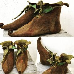 Elf Slippers, Felted Slippers, Art Boots, Fairy Shoes, Elf Shoes, Elf Costume, Fairy Clothes, Forest Fairy, Beautiful Fairies