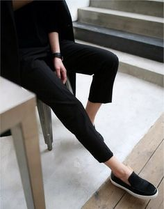 black on black with sneakers #style #fashion #allblack