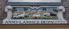 """WWW.HERMANSOUER.NL .. Gevelsteen """"ANNO.LAMMER DUYN"""" Tweede Boomdwarsstraat 12, Amsterdam"""