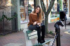 Nordstrom B.P Sweater   Steve Madden Knee High Boots   Louis Vuitton Crossbody   Current/Elliott Jeans