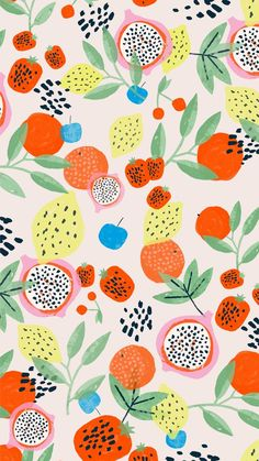 Excellent simple ideas for your inspiration Iphone Background Wallpaper, Tumblr Wallpaper, Aesthetic Iphone Wallpaper, Aesthetic Wallpapers, Screen Wallpaper, Cute Patterns Wallpaper, Pattern Illustration, Summer Fruit, Surface Pattern Design