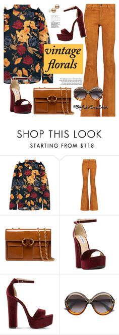 """""""Smell the Roses: Vintage Florals"""" by aidasusisilva ❤ liked on Polyvore featuring Mother of Pearl, Alice + Olivia, Tory Burch, Steve Madden, Christian Dior, vintage and vintageflorals"""