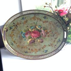 Hey, I found this really awesome Etsy listing at https://www.etsy.com/listing/204826823/rare-antique-french-serving-tray-oval