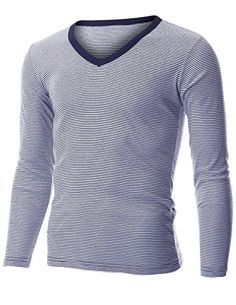 FLATSEVEN Mens Casual Small Striped V-Neck Long Sleeve Tee Shirt (TVL1001) Navy, L FLATSEVEN http://www.amazon.com/dp/B00PP8HYCE/ref=cm_sw_r_pi_dp_bZl1ub0QC60W8 #striped #plaid #tee #shirt #causal FLATSEVEN