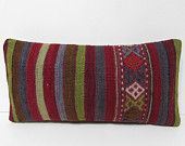 10x20 natural kilim pillow case tapestry cushion lumbar throw pillow couch pillow cover turkish pillowcase area rug pattern pillow red 29191