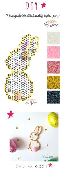 Bristle pattern beadwork Miyuki beadwork and round pompom by Lili Azalée , Bead Embroidery Patterns, Bead Crochet Patterns, Seed Bead Patterns, Peyote Patterns, Beaded Embroidery, Beading Patterns, Art Patterns, Mosaic Patterns, Loom Patterns