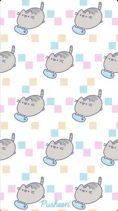 Pusheen the cat iphone wallpaper gamer Vintage Flowers Wallpaper, Cute Girl Wallpaper, Cute Patterns Wallpaper, Cat Wallpaper, Kawaii Wallpaper, Disney Wallpaper, Background Patterns, Iphone Wallpaper, Cute Cartoon Drawings