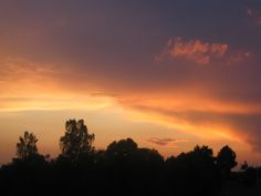 вечернее летнее небо