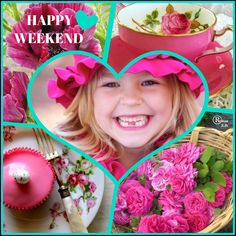 '' Happy Weekend '' by Reyhan S. Good Morning Ladies, Happy Weekend, Beautiful Images, Color Inspiration, Collages, Studio, Lady, Studios, Collage