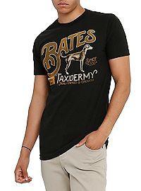 Bates Motel Bates Taxidermy Logo T-Shirt Bates Motel Season 4, Latest Cartoons, Taxidermy, Pop Culture, Logo Design, Logos, Tees, Mens Tops, T Shirt