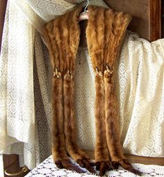 Vintage Mink Stole by cynthiasattic on Etsy, $175.00