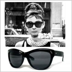40ca84039635 Everything that is old is new again - the ravishing Audrey Hepburn styling  in a pair of Ray-Ban Wayfarer in the classic movie Breakfast at Tiffany s.