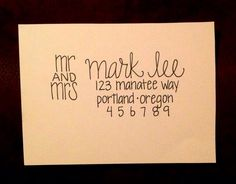 Handwritten Envelope Addressing Wedding Calligraphy Custom Event Service Mailing And Art
