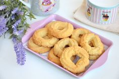 Biscotti Cookies, Onion Rings, Doughnut, Biscuits, Butter, Pasta, Sweets, Sugar, Baking