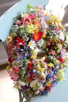 Floral Wreath, Wreaths, Decor, Flowers, Dekoration, Flower Crowns, Decoration, Door Wreaths, Dekorasyon