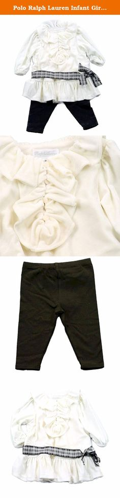 Polo Ralph Lauren Infant Girl's 2 Piece Velvet Top & Leggings Outfit Set (6 Months, Cream). What Began 40 years ago with a collection of ties has grown into an entire world, redefining American style. Ralph Lauren has always stood for providing quality products, creating worlds and inviting people to take part in their dream. Classic and authentic, Ralph Lauren combines the time-honored aesthetic of East Coast Ivy League casual style with proper English refinement. Ralph Lauren is a true...