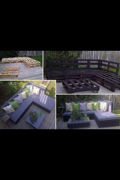 Pallet furniture..perfect for my house! I need to try this...humm maybe tomorrow LOL