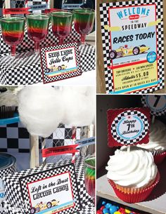 Items similar to Race Car Party Decorations, Printable Party By Cutie Putti Paperie on Etsy Happy 7th Birthday, Race Car Birthday, Thomas Birthday, Car Themed Parties, Cars Birthday Parties, Birthday Ideas, Race Car Party, Fast And Furious Party, Fast And Furious
