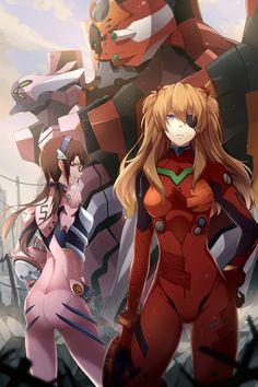 Neon Genesis Evangelion - Mari and Asuka by ng (chaoschyan)
