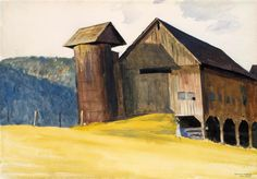 Hopper, Edward (American, 1882-1967) - Barn and Silo, Vermont - 1927