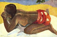 Aloneby Paul Gauguin in oil on canvas, done in Now in a private collection. Find a fine art print of this Paul Gauguin painting. Paul Gauguin, Henri Matisse, Pablo Picasso, Gauguin Tahiti, List Of Paintings, Art Sur Toile, Impressionist Artists, Oil Painting Reproductions, Modern Artists