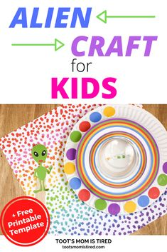 Alien and UFO Paper Plate Craft for kids - Easy Alien and spaceship craft for preschoolers and kids. #kidscrafts Easy Preschool Crafts, Easy Toddler Crafts, Preschool Activities, Alien Crafts, Spider Crafts, Paper Plate Crafts For Kids, Easy Crafts For Kids, Spaceship Craft, Everything Preschool