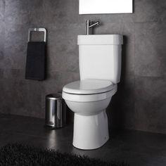 2582c5d18ef26 Planetebain - Pack Wc 2 en 1 avec lave-mains écologique sortie Horizontale  - pas cher Achat   Vente WC