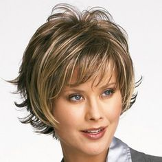 Fluffy Wavy Heat-Resistant Fashion Side Bang Mixed Color Short Synthetic Capless Women's Wig (COLORMIX) in Synthetic Wigs | DressLily.com