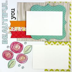 Draw digital stamps with your Pazzles Pen Tool and color them in for a cool hand stamped look. Cutting files for this layout in the Pazzles Craft Room.