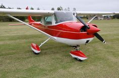 Cessna 150 painted in Firethorn Red.