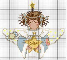 santa claus cross stitch patterns free - Pesquisa Google