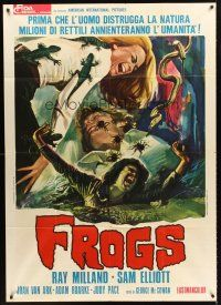 Frogs Movie | 4a239 FROGS Italian 1p '72 great different art of geckos, spiders ...