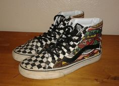 Vans Sk8 Hi Late Night Snack Checkerboard Hamburger Taco 7.5 men 6 women | Clothing, Shoes & Accessories, Men's Shoes, Athletic | eBay!