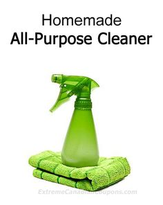 DIY All-Natural Homemade All Purpose Cleaner Recipes We have been using homemade cleaners for years in our home due to allergies and to avoid the toxins that conventional cleaners contain. You can …