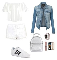"""""""Untitled #5"""" by alexia-simu on Polyvore featuring Valentino, Topshop, LE3NO, adidas, New Look, NYX and LuMee"""