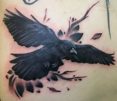 crow tattoos | Crow symbolize the unknown direction and purpose. Crow is a central ...