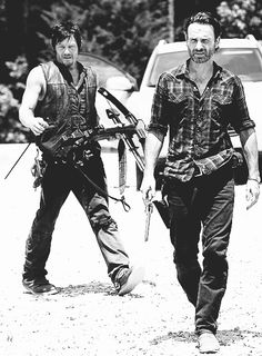 Daryl Dixon (Norman Reedus) and Rick Grimes (Andrew Lincoln) in The Walking Dead.