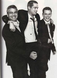 Three for one! George Clooney, Brad Pitt and Matt Damon