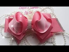 Fast And Easy Projects - How to Make Hair Clips? Making Hair Bows, Diy Hair Bows, Diy Bow, Diy Lace Ribbon Flowers, Ribbon Bows, Fabric Flowers, Ribbons, Baby Girl Accessories, Diy Hair Accessories