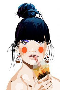 Mamzelle Poppy + Colagene, clinique d'illustration