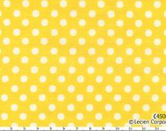 Lecien Basics Dot Yellow, Half Yard, Quilting Cotton, Japanese Lecien Cotton