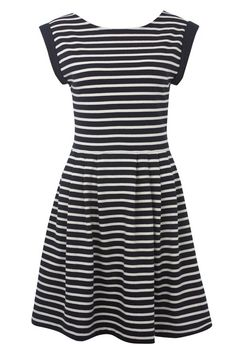 County Cotton Striped Dress, French Connection
