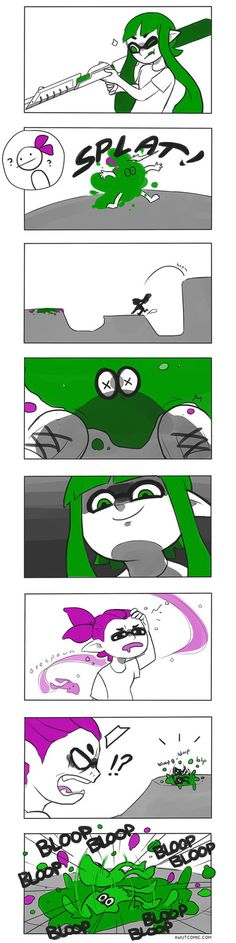 Splatoon: What a lovely afternoon for T by vSock #Inkling #squid