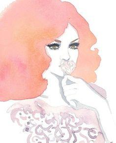 Fashion illustration Print via Etsy
