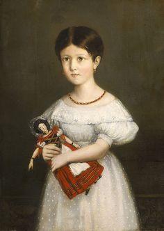 L'Enfant & la poupée, portrait de Laure Stéphanie Pierrugues par Théodore Chassériau (1836) - Poupée — Wikipédia