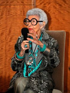 Check out this interview with style icon Iris Apfel on Refinery29.