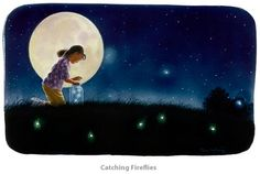 paintings of catching fireflies in jars images | Catching Fireflies..