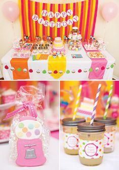 {Gumballs & Ice Cream} Sweet Shoppe Birthday Party